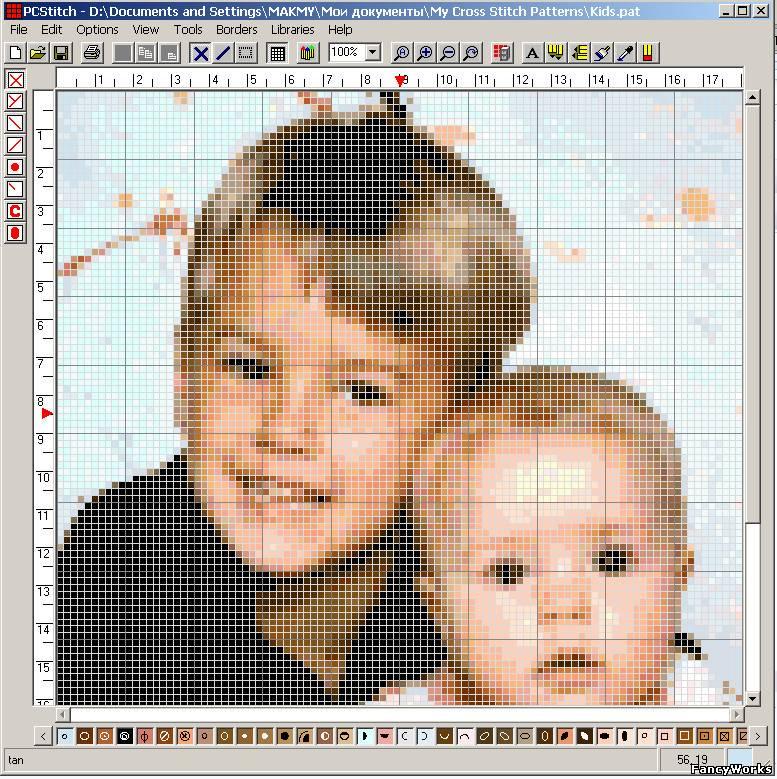 Преобразовать фото в схему для вышивки i 509